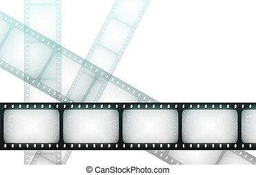 film, besondere, spulen, nacht