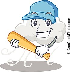 film, betű, felhős, baseball, játék, szeles, karikatúra