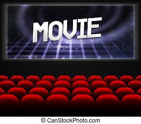 film, bio, sal, bakgrund