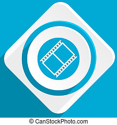 film blue flat design modern icon for web and mobile app