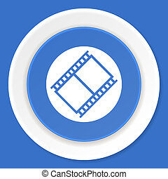 film blue flat design modern web icon