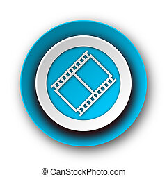film blue modern web icon on white background