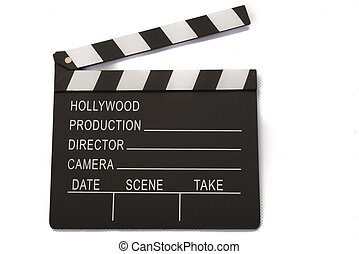 film board on white background