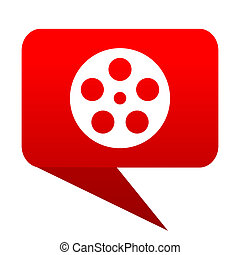 film bubble red icon