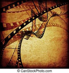 film, cadres, ou, bande film