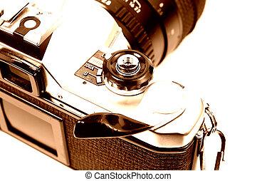 Film Camera - 35mm Camera in Sepia Tone