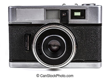 Film Camera Close-up - Old Film Camera Isolated on White ...