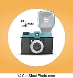 Film camera icon concept