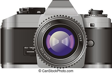 Film Camera - Illustration of a film camera.