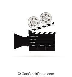 film camera roll black vector