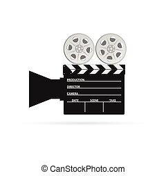 film camera tape black vector