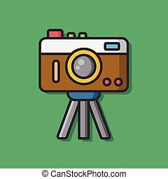 film camera vector icon