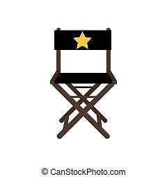 film, chaise, étoile