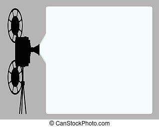 film, cine, proiettore, fondo