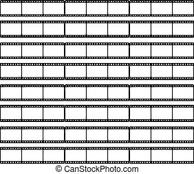 Cinema film strip isolated on white background