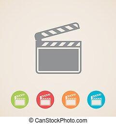 film clap board cinema vector icons