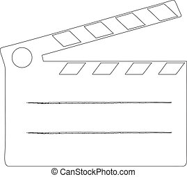 Film clap board cinema - vector illustration