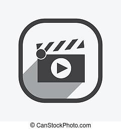 Film clap board cinema vector illustration
