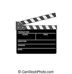 Film clap - vector image.