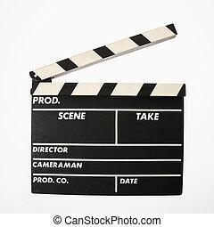 film, clapboard.