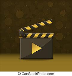 Film clapper board - Golden Movie production clapper board....