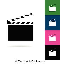 film clapper icon illustration