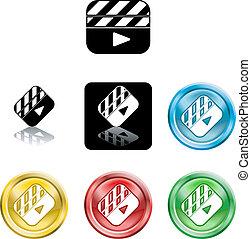Film Clapper icon symbol