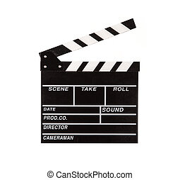 Film clapper on white background - Film clapper isolated on ...