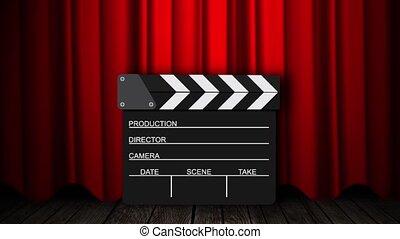 film, clapperboard