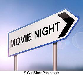 film, concept., nuit