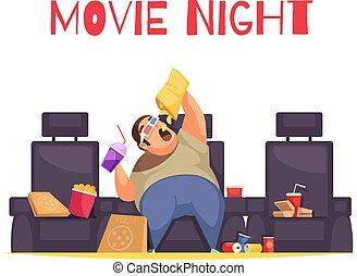 film, concept, nuit