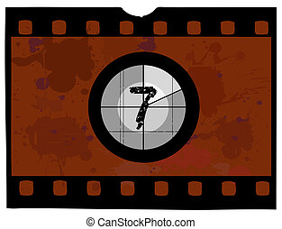 Film Countdown - At 7 - Old Fashioned Film Countdown No 7