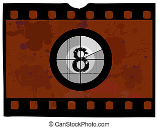 Film Countdown - At 8 - Old Fashioned Film Countdown No 8...