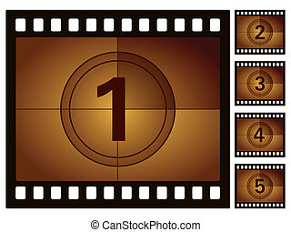 film countdown - Film countdown isolated on a white...