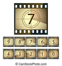 Vector illustration of a film countdown