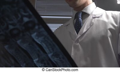film., docteur, magnétique, résultats, images., thérapie,...