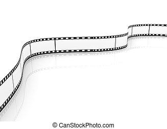 film, emtpy, vuoto, bobina, film, 3d