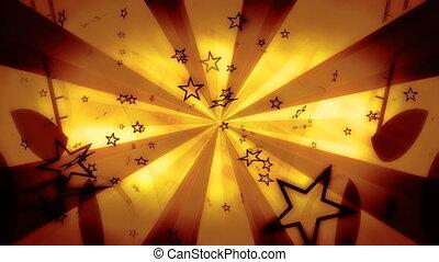 film, faire boucle, fond, étoile