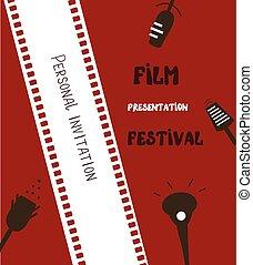 Film festival banner - retro background