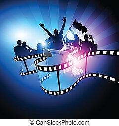 Movie Film Festival. Vector illustration celebrating cinema