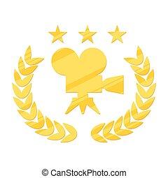 film festival gold logo