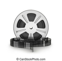 film., film, illustrazione, bobina, film, 3d