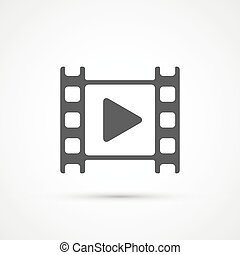 film filmu, gra, icon., wektor