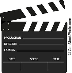 Film flap in black and white design on white background