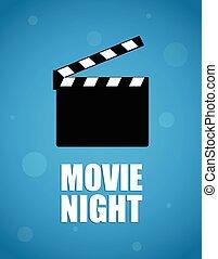film, fond, nuit
