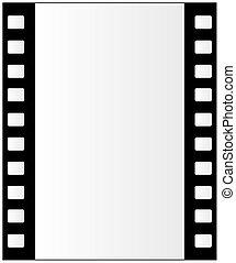 film, fondo, striscia
