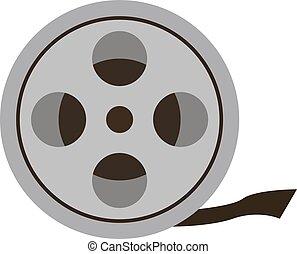 Film for camera, illustration, vector on white background.