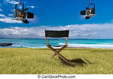 film, formentera, sandstrand, studio