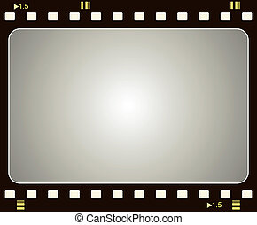 Film frame - Editable vector film frame background with...
