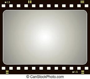 Film frame - Editable vector film frame background with ...